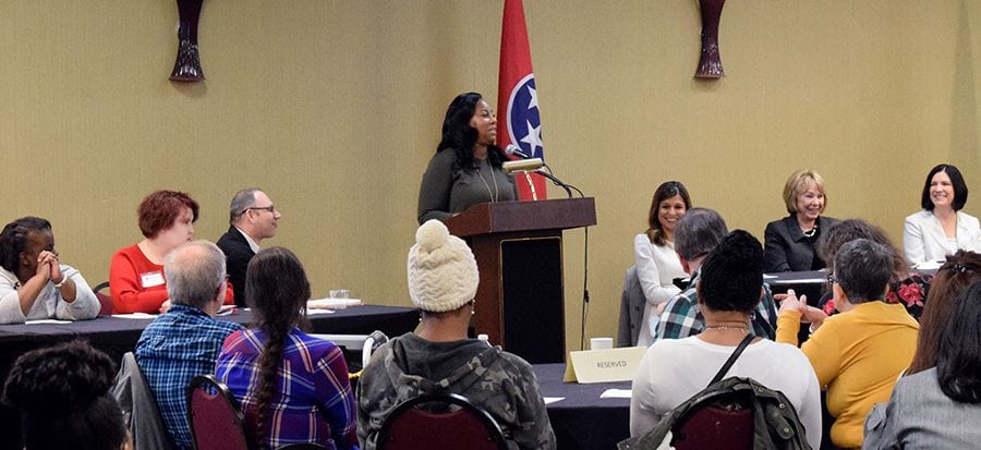 Courtney Kelly presents at TN DIDD Network Accreditation event